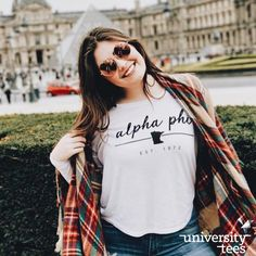 study abroad = living your best life all summer long ✈️ | Alpha Phi | Made by University Tees | universitytees.com