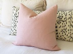Blush Linen Pillow Cover  Blush Pillow  Rose by WillaSkyeHome