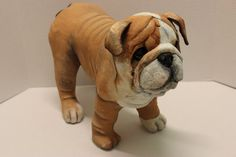 Bulldog Puppy by MelsPaperMenagerie on Etsy