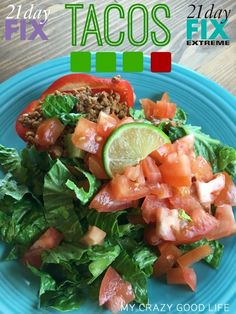 """These 21 Day Fix tacos are delicious! I make them now instead of """"regular"""" tacos."""