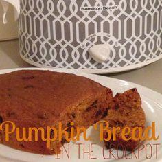 Mason...Like The Jar: Yummy Crockpot Chocolate Chip Pumpkin Bread