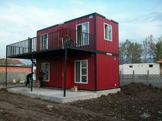 Made from 2 20 foot pre fab containers with an awesome deck!