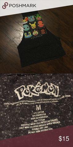Men's Pokémon Cut Off Tank Gently worn ; self cut ; can fit m-l Shirts Tank Tops