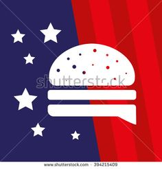 American Burger Vector Icon