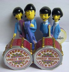 Would You Like Some Salt and Pepper? Beatles salt and pepper shakers Salt N Pepa, Morton Salt, Salt And Pepper Set, Novelty Items, Salt Pepper Shakers, Spice Things Up, The Beatles, Tea Pots, Stuffed Peppers