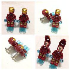 LEGO Cufflinks - Mens Cufflinks - Groom Cufflinks - Groomsmen Gift -  Lego® IRONMAN Cufflinks - Lego Minifigure Cufflinks Avengers WEDDING on Etsy, $20.00