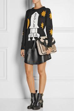 Sweater, skirt and bag all Coach. Photo: Net-a-Porter