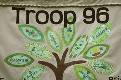 Especially as our troop grows, a flag showing all the different levels and what it means to be a 925 Girl Scout would bring us together.