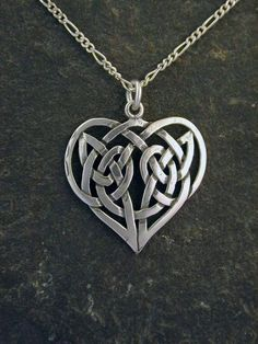 Sterling Silver Celtic Heart Pendant on a Sterling by peteconder