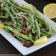 Easy Sauteed Green Beans with Bacon is lighter and healthier than the traditional casserole. It's special enough for holiday dinners or anytime!