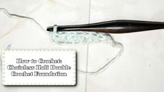You can really do a chainless foundation with any basic stitch (sc, hdc, dc, trc), this tutorial covers how to do it with half-double crochet. Half Double Crochet, Foundation, Crafting, Future, Future Tense, Crafts To Make, Crafts, Foundation Series, Handarbeit