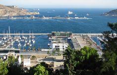 Vistas panorámicas de la Bahía de Cartagena en Murcia