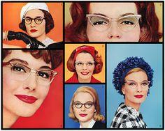 Cats eye glasses...vintage ad