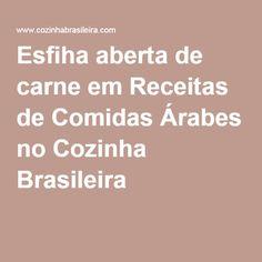 Esfiha aberta de carne em Receitas de Comidas Árabes no Cozinha Brasileira