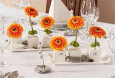 ... Orange sur Pinterest  Mariages Orange, Centres De Table De Mariage et