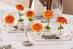 ... Orange sur Pinterest  Mariages Orange, Centres De Table De Mariage et