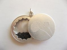 Locket Sterling silver with mineral glass diameter by mabotte