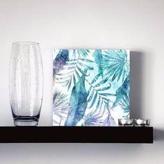 quadro decorativo tropical watercolor