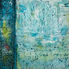 Lily - Encaustic by Linda Virio