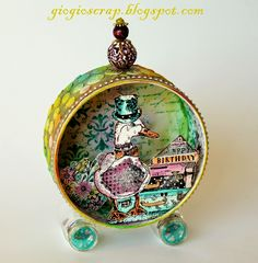 Scrap in Progress: Upcycled candies tin