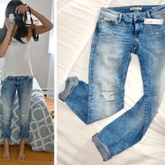 Kind of wanting to try some boyfriend jeans...hopefully they would be the perfect length and I wouldn't look any shorter haha #StitchFix