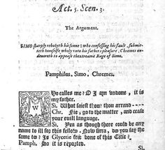 Cambridge academic Dr Anne Toner believes this 1588 edition of Roman dramatist Terence's  Andria is the first time the ellipsis was printed in an English play's script.