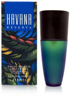 Havana Reserva Aramis cologne - a fragrance for men 1996 - Top notes are citruses, coriander and tangerine; middle notes are jasmine, cedar, vanilla and spices; base notes are tobacco, leather, sandalwood and woodsy notes.