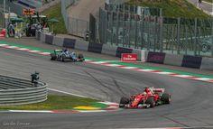 Sebastian Vettel tijden de F1 GP 2017 op de Red Bull Ring in Spielberg Oostenrijk. Sebastian wordt uiteindelijk 2de.