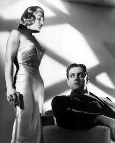 Lizabeth Scott & Raymond Burr (Pitfall 1948) André De Toth. Photo Regal Films & United Artists.