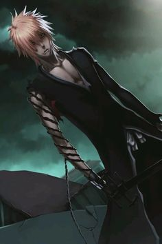 Yeah, I remember his final fight with Aizen when he looked like this and I was hyperventilating because of all that awesomeness and hotness *w* - Kurosaki Ichigo Pics, Shinigami, Anime Comics, Bleach Characters, Bleach Art, Anime, Anime Characters, Anime Shows, Manga