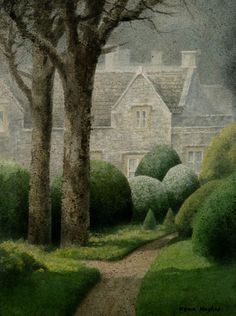 Perfect for Greyson Park in The Devlish Mr. Danvers (Kevin Hughes - Formal Garden, Iford Watercolour)