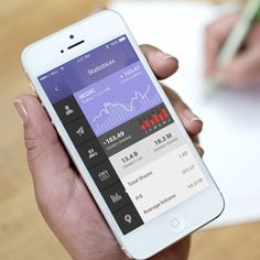 20 Stunning Mobile App Designs Featuring Graphs & Charts
