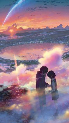 Kimi no na wa Wallpaper Anime Pro, Art Anime, Manga Anime, Animé Romance, Kimi No Na Wa Wallpaper, Your Name Wallpaper, Your Name Anime, Anime Scenery Wallpaper, Ocean Wallpaper