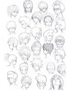 anime guy hairstyles - Google Search