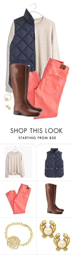 """Brights for fall"" by hayley-tennis ❤ liked on Polyvore featuring Madewell, J.Crew, American Eagle Outfitters, Tory Burch, Kate Spade, women's clothing, women's fashion, women, female and woman"