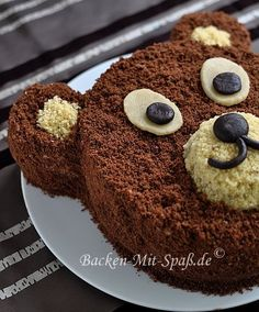 Mocha panforte - funny food – creative food prepared for young and old - Cake Cookies, Cupcake Cakes, Cupcakes, Baby Food Recipes, Cake Recipes, Cake & Co, Bear Cakes, Food Humor, Creative Food