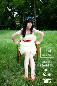 blog layout tip 6 - fonts