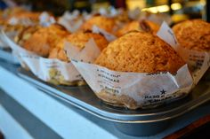 The freshest baked daily. Muffins, Restaurants, Treats, Fresh, Baking, Food, Cafes, Diners, Sweet Like Candy
