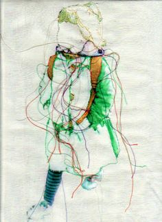 Thread art portraits by Rita Zepf, based in Germany. Free Motion Embroidery, Free Machine Embroidery, Hand Embroidery Patterns, Embroidery Art, Art Textile, Textile Artists, Fabric Painting, Fabric Art, Collages