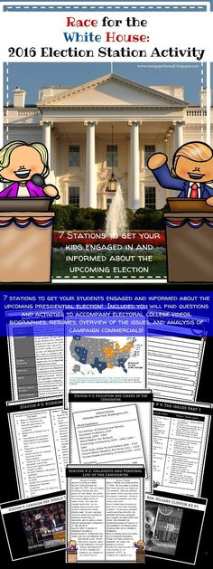 Engage and inform your students with 7 stations on the 2016 election and the candidates!
