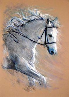 ECLAT (Peinture), 50x70 cm par laurent frison PASTEL SEC TENDRE SUR PAPIER VELOUR