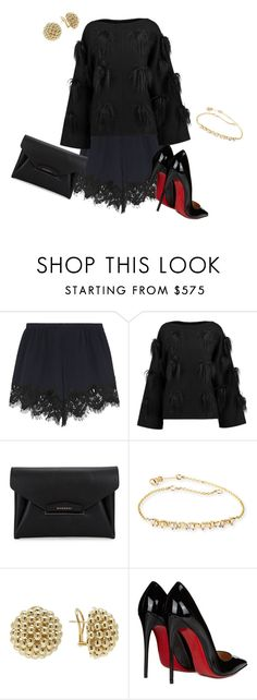 """""""Black Feather"""" by arlecia1988 ❤ liked on Polyvore featuring Chloé, STELLA McCARTNEY, Givenchy, Suzanne Kalan, Lagos and Christian Louboutin"""