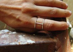 Minimal sterling silver wire ring. by MarthaLjewellery on Etsy