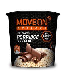 Owsianka wysokobiałkowa czekoladowa 100g. | Porridge with whey protein - chocolate. #moveonpl #moveon #moveonsport #sport #nutrition #high #protein #fiber #diet #proteiny #dieta #athlete #owsianka #oatmeal #sniadanie #posilek