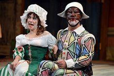 Carine Montbertrand as Smeraldina and Lee Ernst as Truffaldino.  (Photo credit: N. Howatt)