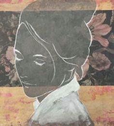 Kunstenaar: Casper Faassen. Ik vind dit een mooi rustig kunstwerk,  omdat er niet echt harde kleuren worden gebruikt,  maar juist er zachte en subtiele kleuren. Ik vind het erg knap hoe er een beetje gebruik is gemaakt van diepe verschil door de bloemen achter het meisje te maken, maar het meisje schijnt een soort van door, waardoor er niet echt diepte verschil is.