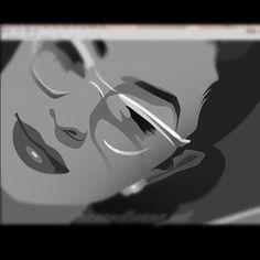 "@riceandbeanz's photo: ""Work in progress #WIP of @vintagevandal _______________________________________  #pinup #CatEye  #illustration #art #Santiago #vintagevandalizm #Riceandbeanz"""