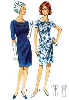 Vintage Sewing Pattern 1960s Butterick 4242 Mad Men Sheath