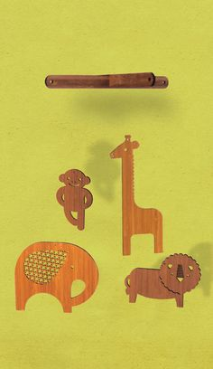 more wooden animals
