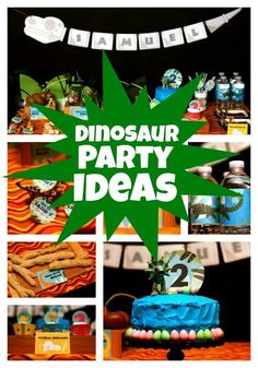 Dinosaur Birthday Party Dessert Table - Spaceships and Laser Beams